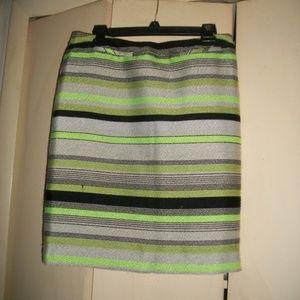 Nordstrom Halogen striped pencil skirt size 6
